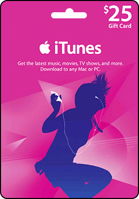 iTunes USA 25 $ Gift Card - recharge card iTunes