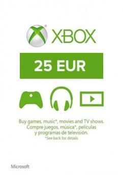 Купить xBox Live! - EU - 25 EUR Gift Card