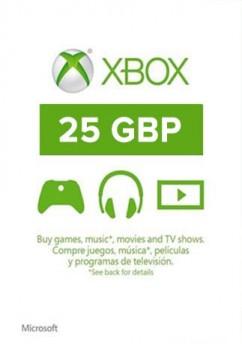 Купить xBox Live! - UK - £25 фунтов