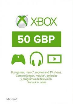 Купить xBox Live! - UK - £50 фунтов