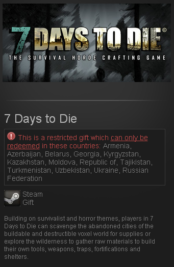 7 Days to Die Steam Gift Region Free + GIFT