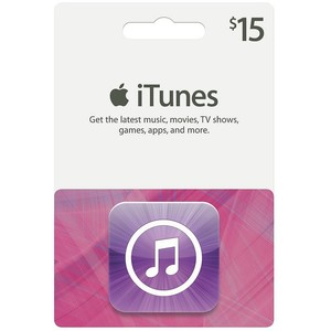 iTUNES GIFT CARD - 15 $ - USA (SCAN CODE) + DISCOUNTS