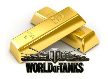 Gold World of Tanks (min 100 gold)