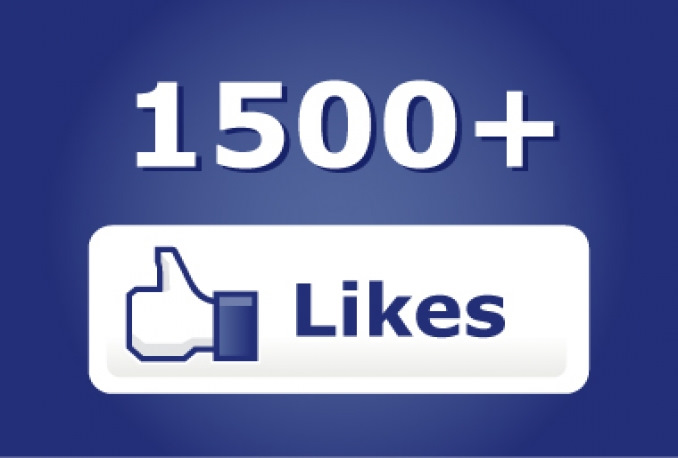 ✅ ❤️ 1500 Likes FACEBOOK [LOW PRICE] [Best] 1.5K 🔥🚀