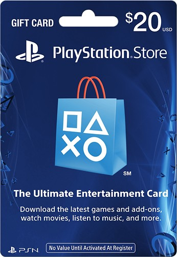 PSN Gift Card Code $20 (US) Scans+Discount