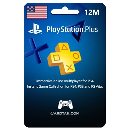 (PSN) Playstation Plus 12 Mount 365 Day (USA)✅Wholesale