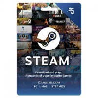 Steam Wallet 5 USD Gift Card (Global) 2019