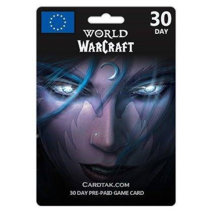World of Warcraft 30 Days Time Card - EU / RU + Bonus 2019
