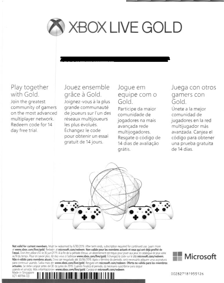 Xbox Live Gold 14 Days TRIAL Global SCAN/SPECIAL OFFER