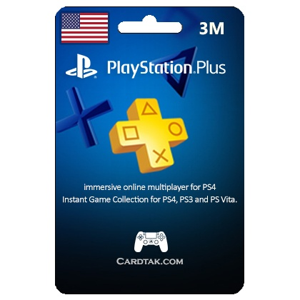 (PSN) Playstation Plus 3 Mount 90 Day (USA) ✅ Wholesale