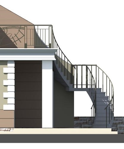 Metal staircase (DWG)