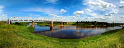 panorama railway bridge