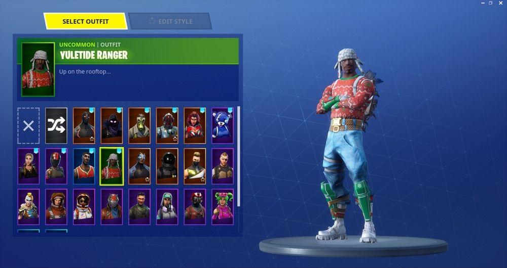 Christmas Skins Fortnite.Fortnite Christmas Skin Yuletide Ranger