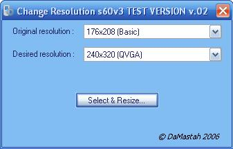 resize the screen .jar programs. Now there is no problem with the choice of resolution and BONUS