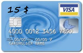 15$ Visa Virtual Card