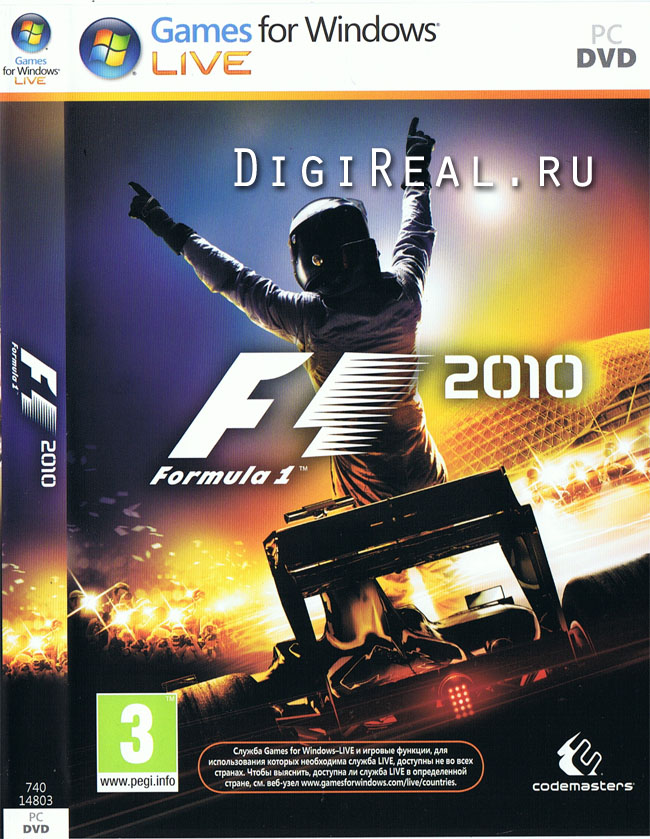 Formula 1 2010 (Photo CD Key Бука) Windows Live - SALE