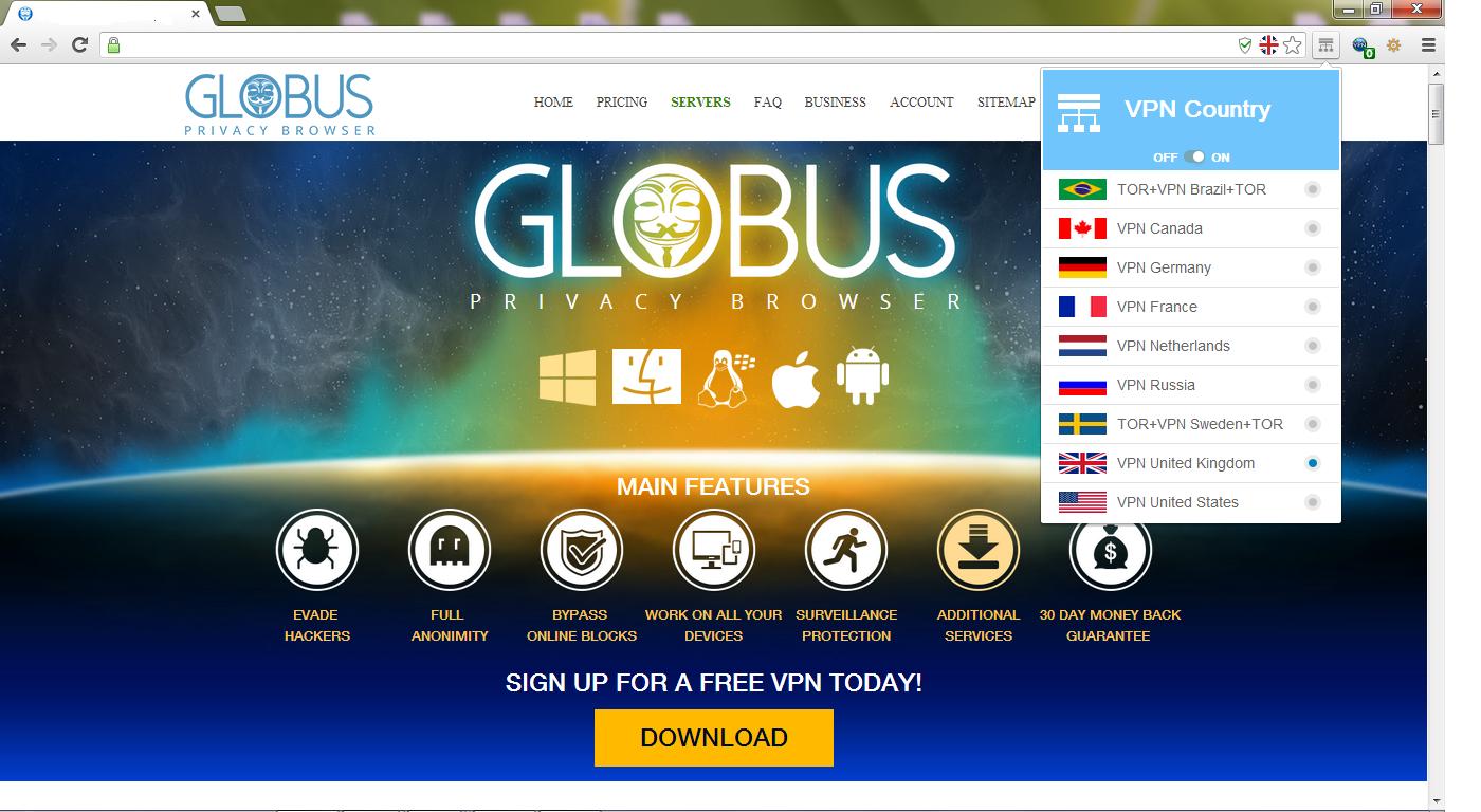 globus vpn tor browser