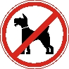 Sticker. Dogs prohibited. Format .cdr