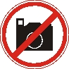 Sticker. Photographing is prohibited. Format .cdr