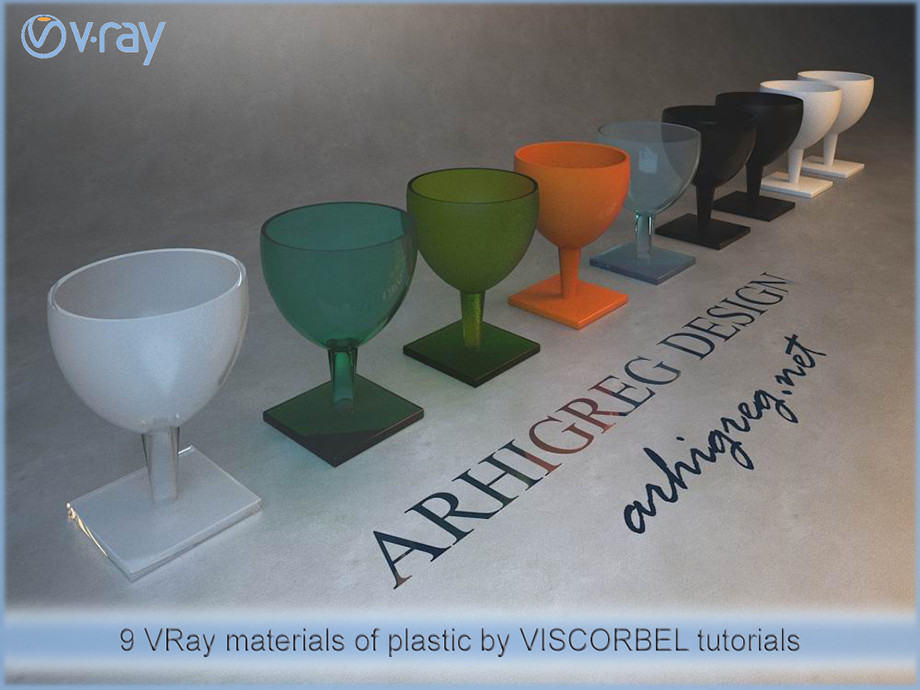 93 realistic VRay materials by VISCORBEL