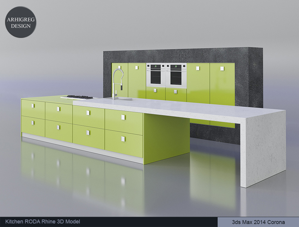 Kitchen RODA Rhine 3D Model 032