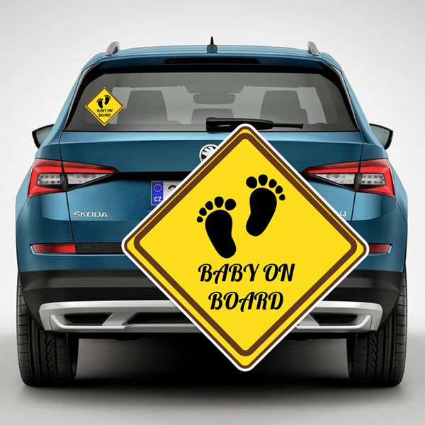 "Sticker ""Baby in the car"" №7"