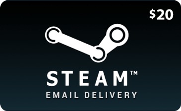 20 USD Steam Wallet Gift Cards - Redeem