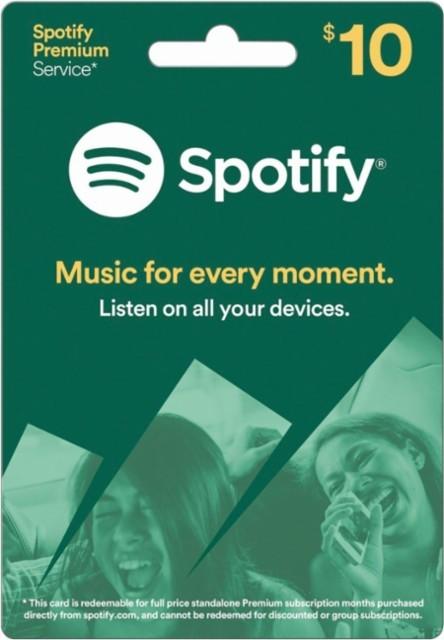 Description. Spotify $10 USD Gift ...