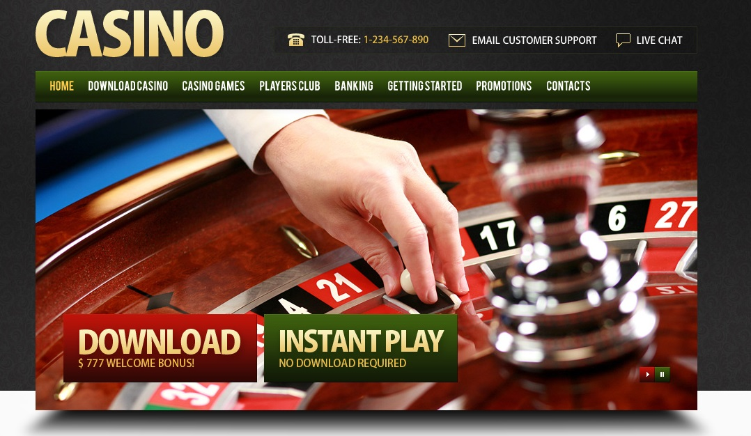 Professional website template Casino