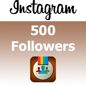 Instagram followers 500 + free 100 photo likes. buy