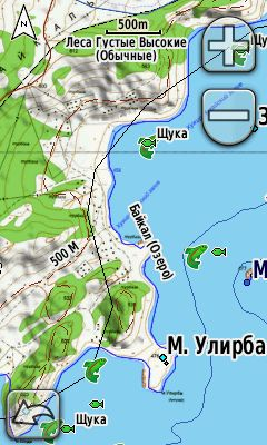 Map Olkhon Island (Lake Baikal)