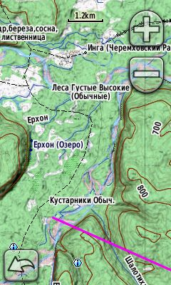 Map of Cheremkhovo district