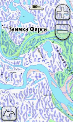 Map Selenga River delta (Baikal)