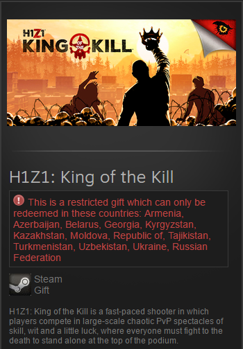H1Z1: King of the Kill (Steam Gift | RU/CIS)