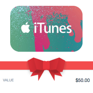iTUNES GIFT CARD - 50$ - (USA/CODE)