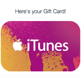 iTUNES GIFT CARD - 100$ - (USA/CODE)