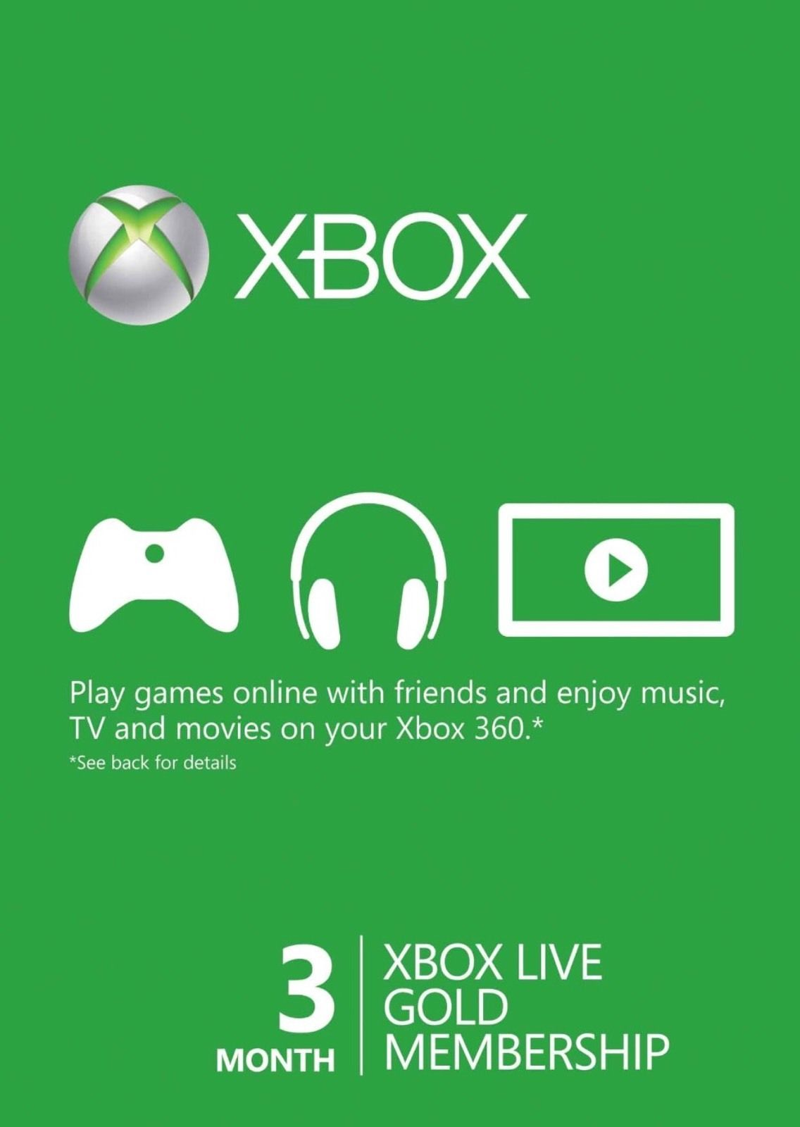 XBOX LIVE GOLD 3 MONTHS ALL COUNTRIES