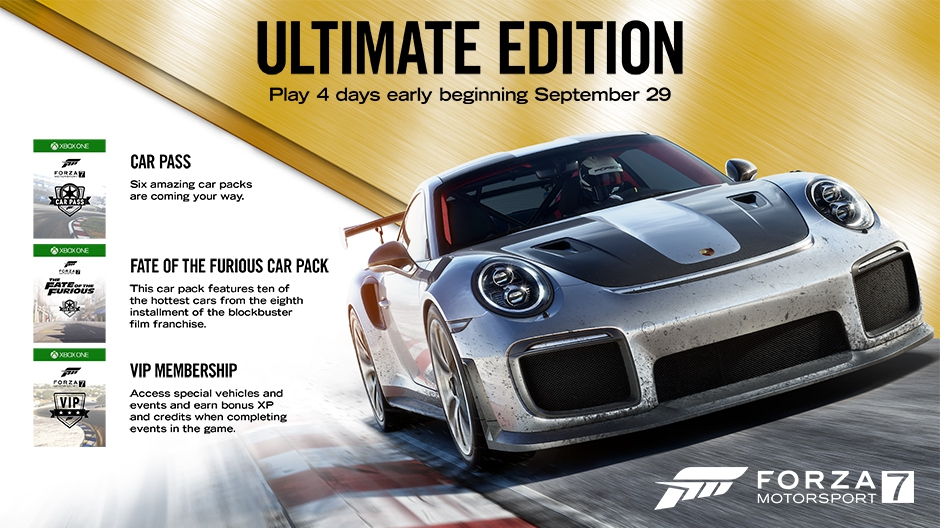 Forza Motorsport 7 ULTIMATE+FH3 AUTO ACTIVATION+ONLINE