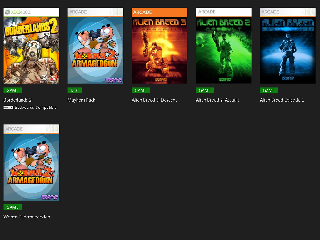 Shop all games at the Xbox 360 Marketplace