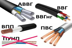 Selection of electric wires
