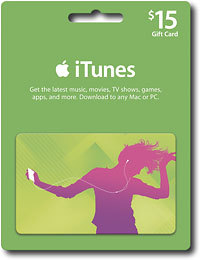 iTunes Gift Card $15 USA  Photo