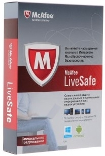 McAfee LiveSafe 1 USER 1 Year Region Free RUS ENGLISH