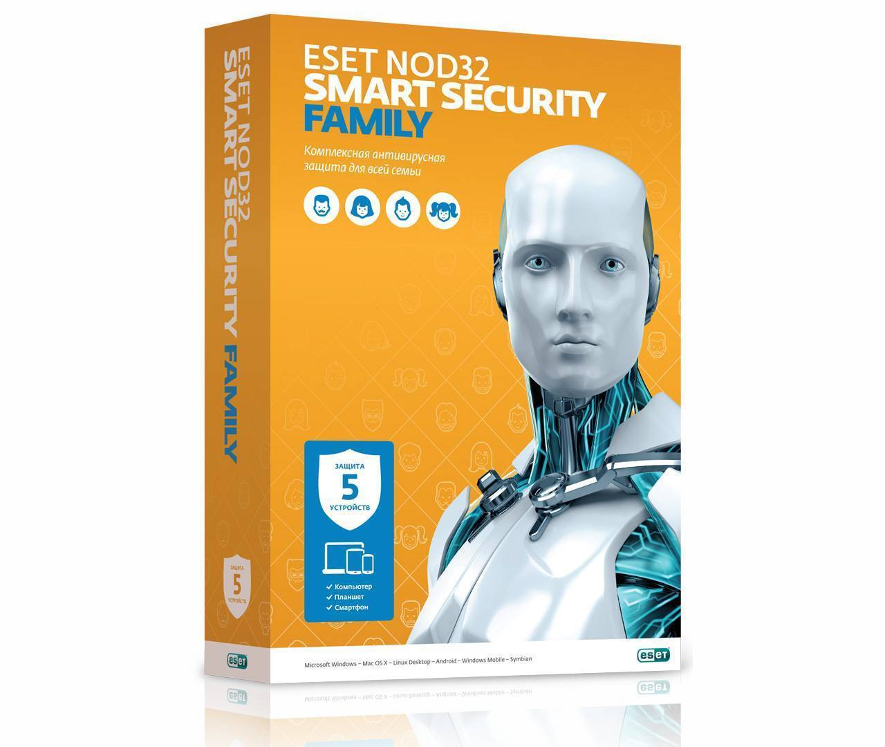ESET NOD32 SMART SECURITY FAMILY - 5 dev 1 year REGFREE