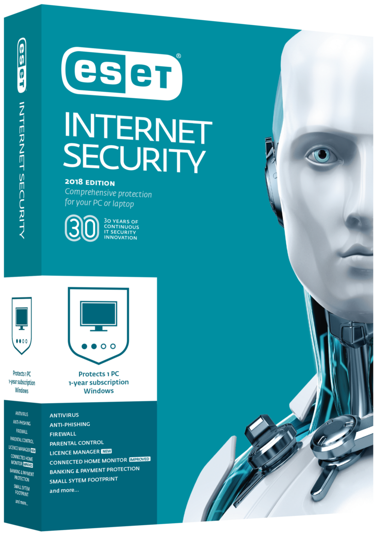 ESET NOD32 INTERNET SECURITY 5 years 1 PC WINDOWS