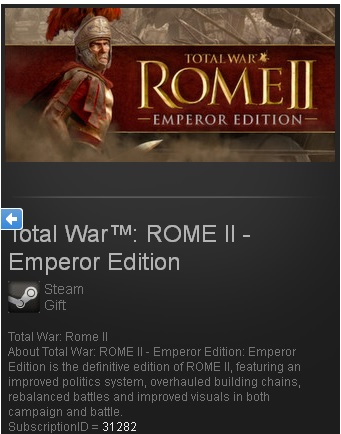 Total War: ROME II 2 Emperor Steam Gift Region Free/ROW