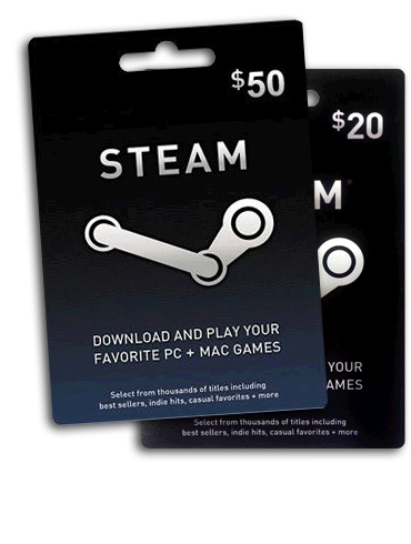 Steam Wallet Code 5,10,20,25,50,100 EUR