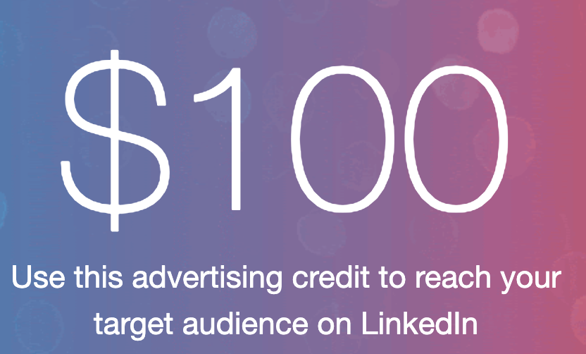 Linkedin 100 $ COUPON No Deposit