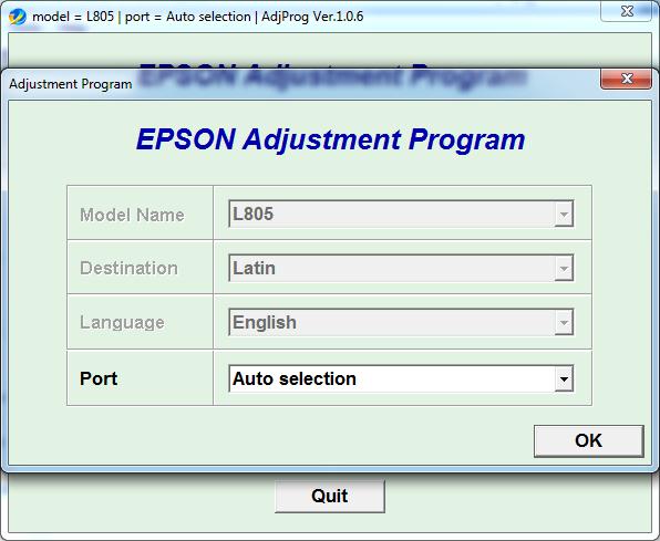 Buy Adjustment program Epson L805 (Latin) and download