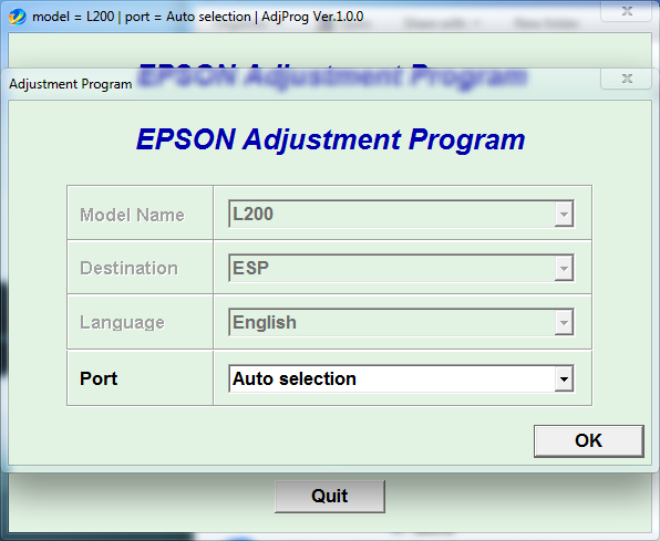 Adjustment program Epson L200 (ESP)