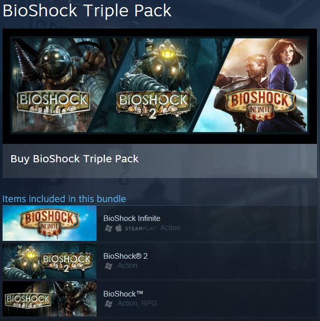 BioShock Infinite + Triple Pack  (Steam Gift / RU CIS)